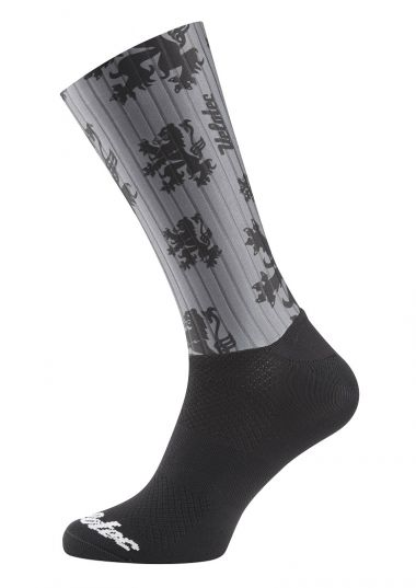 Italian cycling socks-high ankle height.
